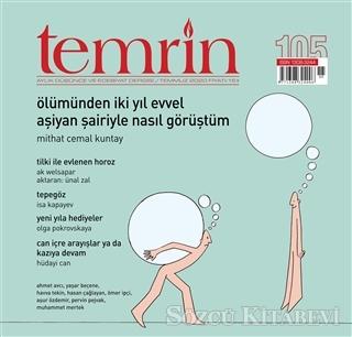 Temrin Aylık Edebiyat Dergisi Temmuz 2020 Bülteni Sayı:105