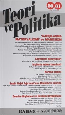Teori ve Politika Dergisi Sayı: 80-81 Bahar - Yaz 2020