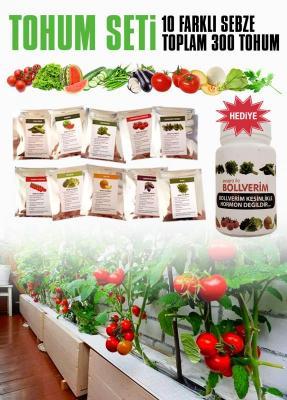 Tohum Seti - 10 Farklı Sebze - 300 Tohum