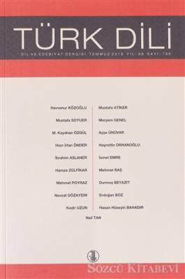Kolektif - Türk Dili Dergisi Ağustos 2018 Yıl: 68 Sayı: 799 | Sözcü Kitabevi