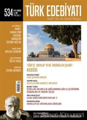 Türk Edebiyatı Dergisi Sayı : 534 Nisan 2018