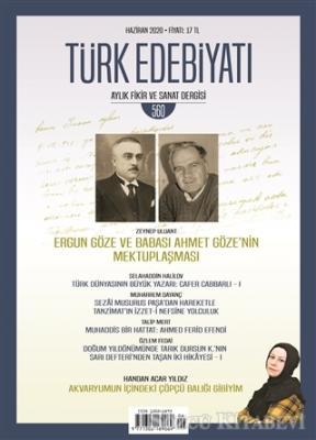 Kolektif - Türk Edebiyatı Dergisi Sayı: 560 Haziran 2020 | Sözcü Kitabevi