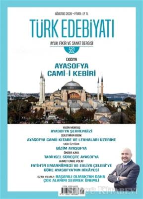 Türk Edebiyatı Dergisi Sayı: 562 Ağustos 2020