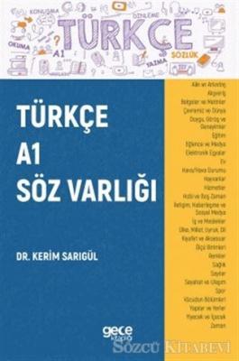 Kerim Sarıgül - Türkçe A1 Söz Varlığı   Sözcü Kitabevi