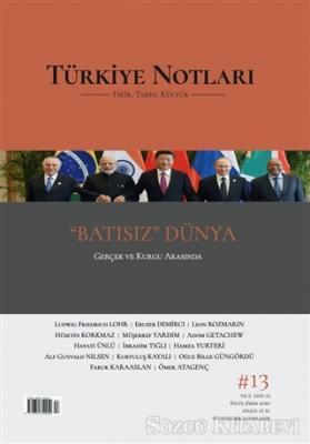 Kolektif - Türkiye Notları Dergisi Sayı 13 | Sözcü Kitabevi
