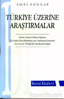 Emre Kongar - Türkiye Üzerine Araştırmalar | Sözcü Kitabevi
