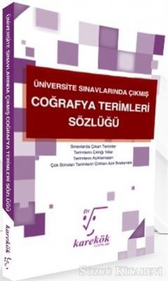 Üniversite Sınavlarında Çıkmış Coğrafya Terimleri Sözlüğü