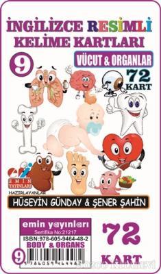 Vücut ve Organlar - İngilizce Resimli Kelime Kartları 9