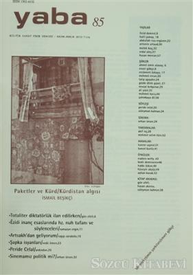 Kolektif - Yaba Edebiyat Dergisi Sayı: 85 | Sözcü Kitabevi