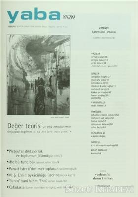Kolektif - Yaba Edebiyat Dergisi Sayı: 88/89 | Sözcü Kitabevi