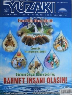 Yüzakı Aylık Edebiyat, Kültür, Sanat, Tarih ve Toplum Dergisi / Sayı:150 Ağustos 2017