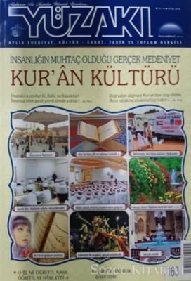 Yüzakı Aylık Edebiyat, Kültür, Sanat, Tarih ve Toplum Dergisi Sayı: 163 Eylül 2018